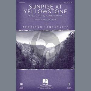 Sunrise At Yellowstone - Trombone