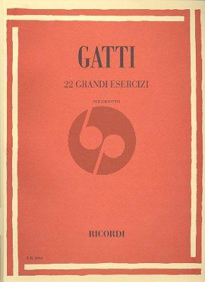 Gatti 22 Grandi Esercizi per Fagotto