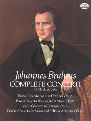 Brahms Complete Concerti Fullscore (Dover)