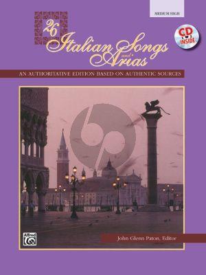 26 Italian Songs and Arias of the 17th & 18th Century Medim - High (Bk-Cd) (edited by John Glenn Paton)