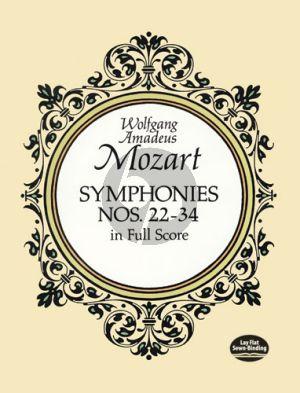 Mozart Symphonies No's 22-34 Full Score