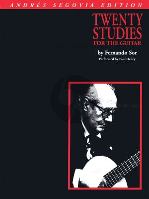 Sor 20 Studies for Guitar (selected and edited Andres Segovia)