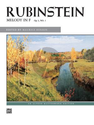 Rubinstein Melody F-major Op.3 No.1 Piano solo (Maurice Hinson)