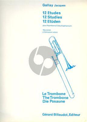 Gallay 12 Etudes pour Trombone (Edmond Leloir)