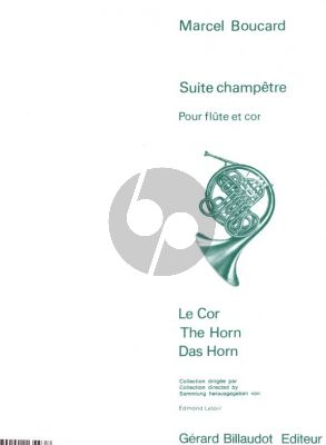 Boucard Suite Champetre Flute and Horn