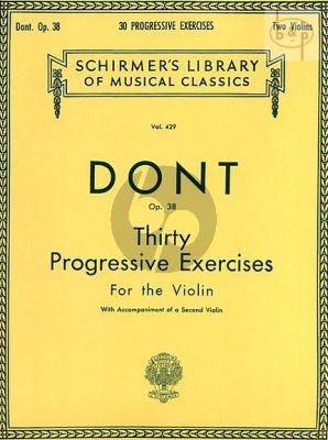 30 Progressive Exercises Op.38 Violin