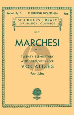 20 Elementary and Progressive Vocalises Op.15 Alto Voice