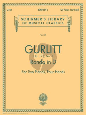 Gurlitt Rondo D-major Opus 175 No. 1 2 Piano's