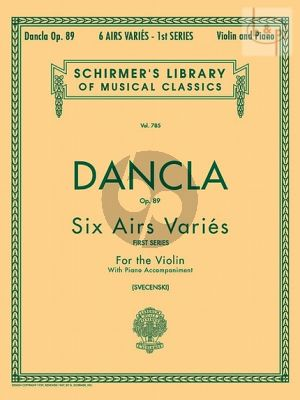 6 Airs Varies Op.89 Violin-Piano