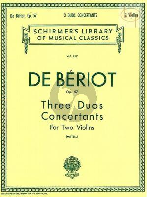 3 Duos Concertantes Op.57 2 Violins