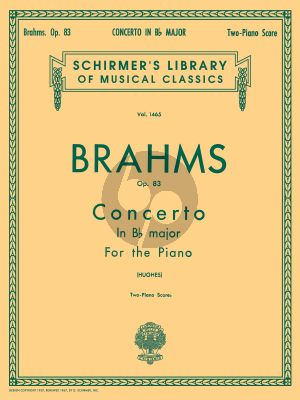 Brahms Concerto No.2 B-flat major Op.83 Piano and Orchestra (red. 2 pianos) (Edwin Hughes)