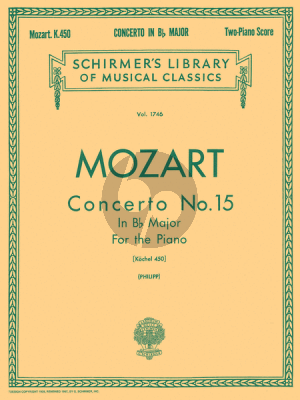 Mozart Concerto No.15 B-flat Major KV 450 (edition for 2 Pianos) (Edited by I Philipp)