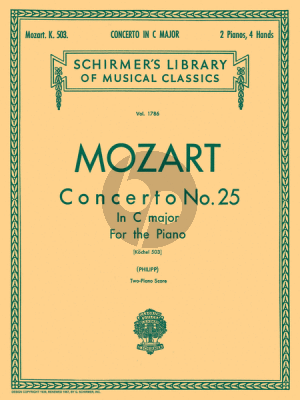 Mozart Concerto No.25 C-Major KV 503 (Edited for 2 Pianos by Isidor Philipp)