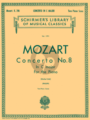 Mozart Concerto C-major KV 246 (Piano-Orchestra (red. 2 Piano's) (edited by Isidor Philipp)
