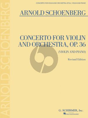 Schoenberg Concerto Op. 36 Violin and Orchestra (piano reduction)