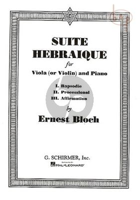 Suite Hebraique Viola[Violin]-Piano