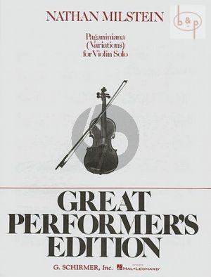 Paganiniana Variations Violin solo