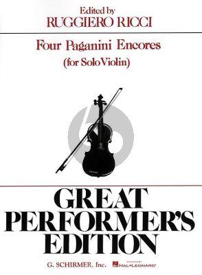 4 Encores Violin solo