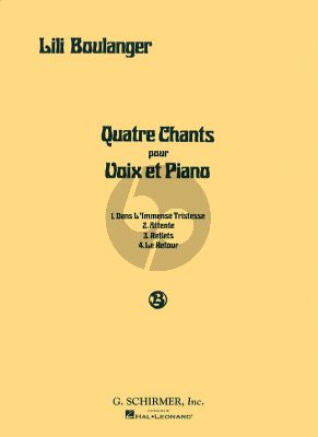 Boulanger 4 Chants Medium-Low Voice (french / engl.)
