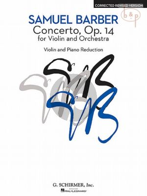 Concerto Op.14 Violin-Orchestra (piano red.)