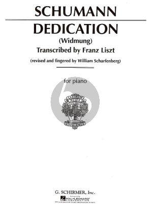 Schumann Dedication (Widmung) Piano solo (transc. F. Liszt)