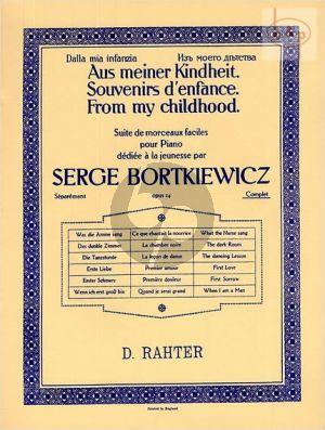 Souvenir d'Enfance Op.14