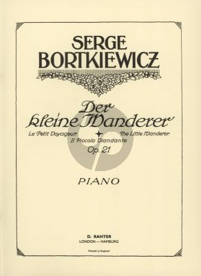 Bortkiewicz The Little Wanderer Op. 21 Piano solo