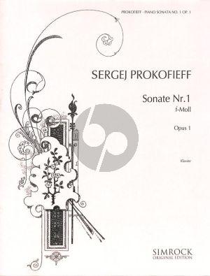 Prokofieff Sonata No.1 Op.1 f-minor