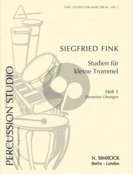 Fink Percussion Studio Vol.1 Studies for Snare Drum: Elementary Exercises