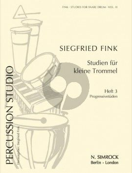 Fink Studies for Snare Drum Vol. 3 Progressive Studies (Percussion Studio)