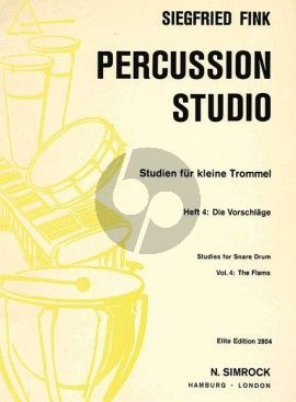 Fink Studies for Snare Drum Vol. 4 The Flams (Percussion Studio)