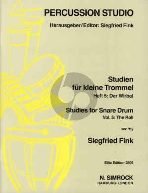 Fink Studies for Snare Drum Vol. 5 The Roll (Percussion Studio)