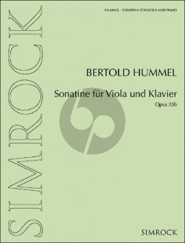 Hummel Sonatina Op. 35b Viola and Piano