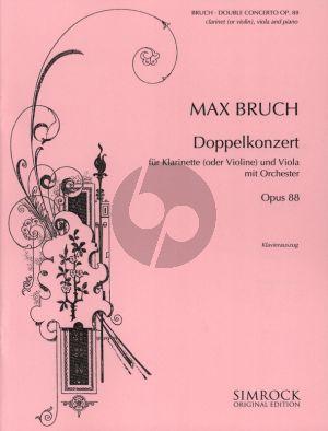 Bruch Doppelkonzert Op. 88 Klar. [A] [Violine]-Viola und Klavier (Klavierauszug) (Otto Lindemann)