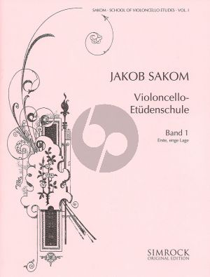 Sakom School of Violoncello Etudes Vol.1 (1st Close Position)