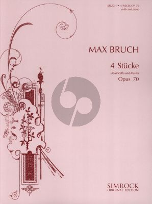 Bruch 4 Pieces Op.70 Violoncello and Piano