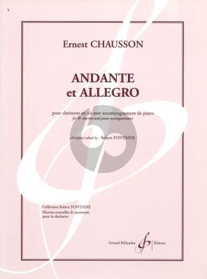 Chausson Andante et Allegro Clarinet Bb - Piano (Fontaine)