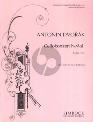 Dvorak Concerto B-minor Op.104 Violocell and Orchestra (piano reduction)