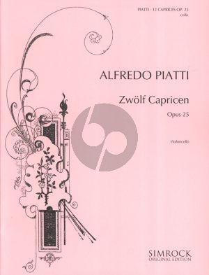 Piatti 12 Caprices Op. 25 Cello (William Edward Whitehouse)