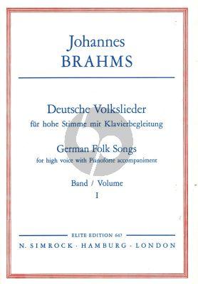 Brahms Deutsche Volkslieder vol.1 High (germ./engl.)