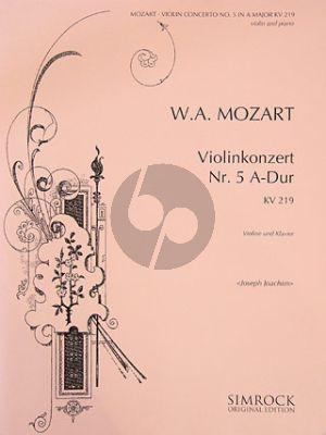 Concerto A-major No.5 KV 219 Violin-Orch.