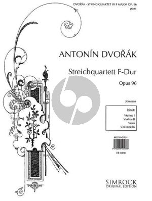 Dvorak Quartet F-major Op.96 2 Vi.-Va.-Vc. (Parts)