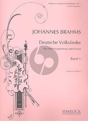 Deutsche Volkslieder Vol.1 2 Singstimmen-Klavier