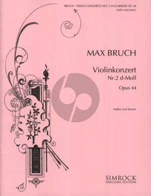 Bruch Concerto d-minor Op.44 Violin and Piano