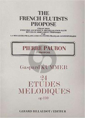 Kummer 24 Etudes Melodiques Op.110 Flute