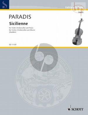 Paradis Sicilienne Violin (or Violoncello)-Piano (Samuel Dushkin)