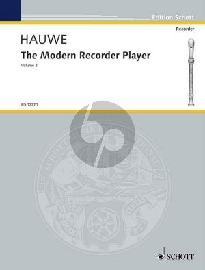 Hauwe Modern Recorder Player Vol.2 Treble Recorder (engl.)