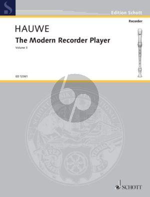 Hauwe The Modern Recorder Player Vol.3 Treble Recorder (engl.)