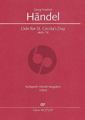 Handel Ode for St.Ceacilia's Day HWV 76 (Study Score) (Christine Martin)