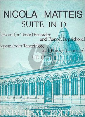 Suite D-major Descant Recorder-Piano